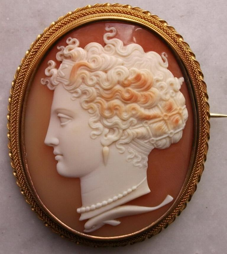 Antique Cameos - Cameo - old victorian, shell, coral and ...