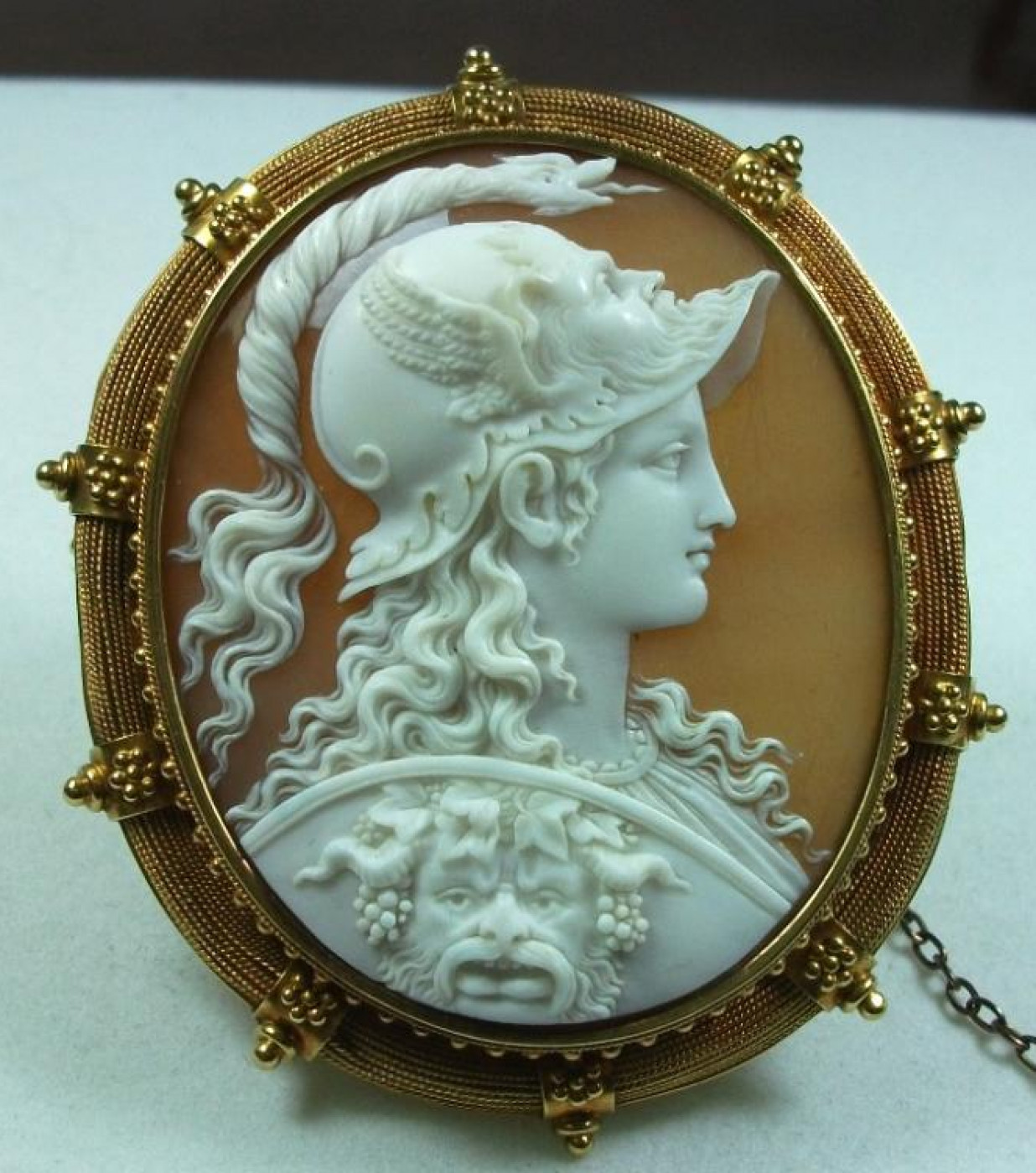 Exceptional Cameo of Athena Signed Filippo Tignani