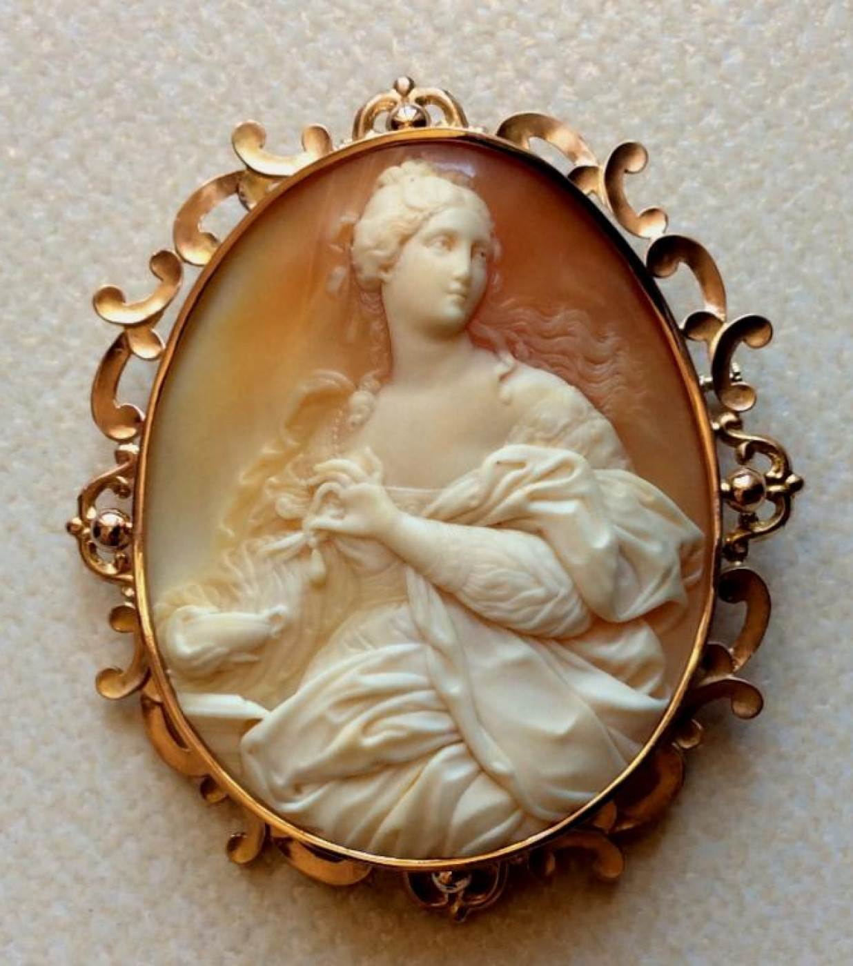 The Rarest Cameo - Cleopatra Dissolving the Pearl