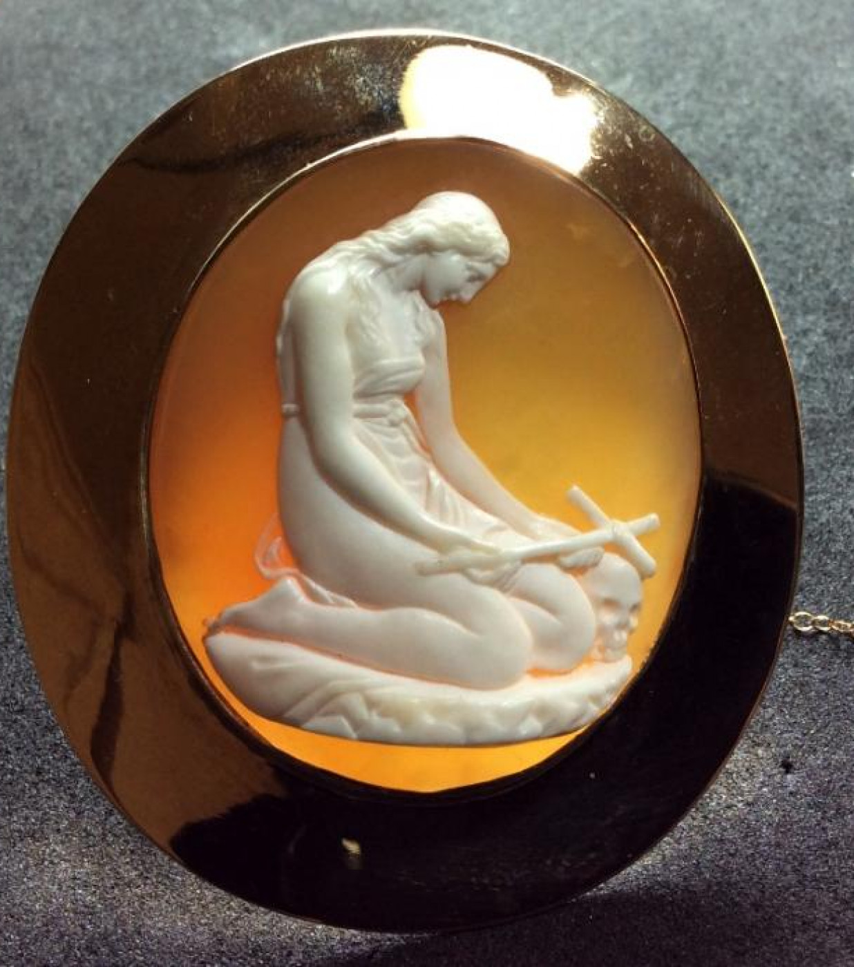 Oustanding Cameo of a Penitent Mary Magdalene after Canova