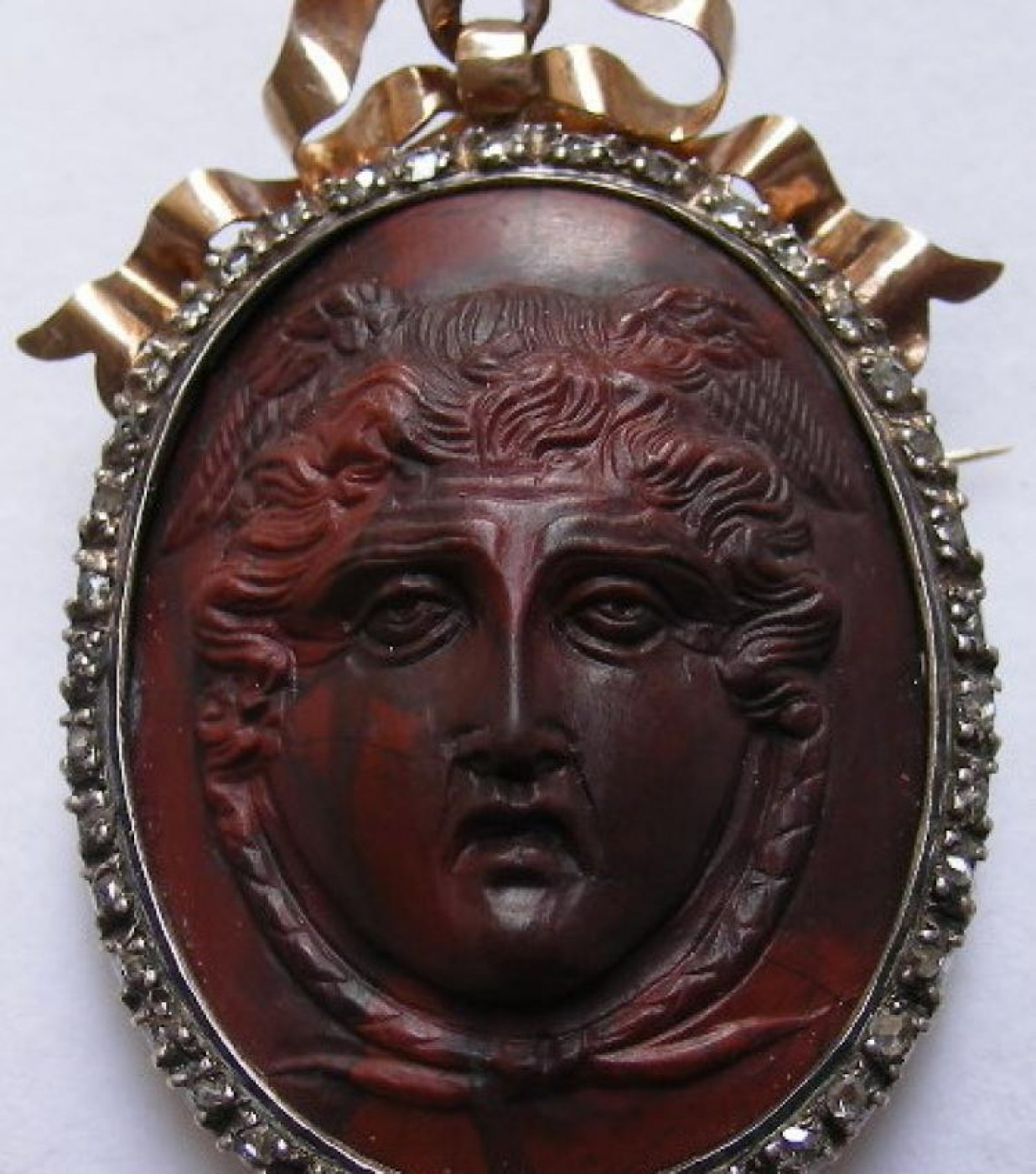 Rarest Red Lava Cameo of Medusa