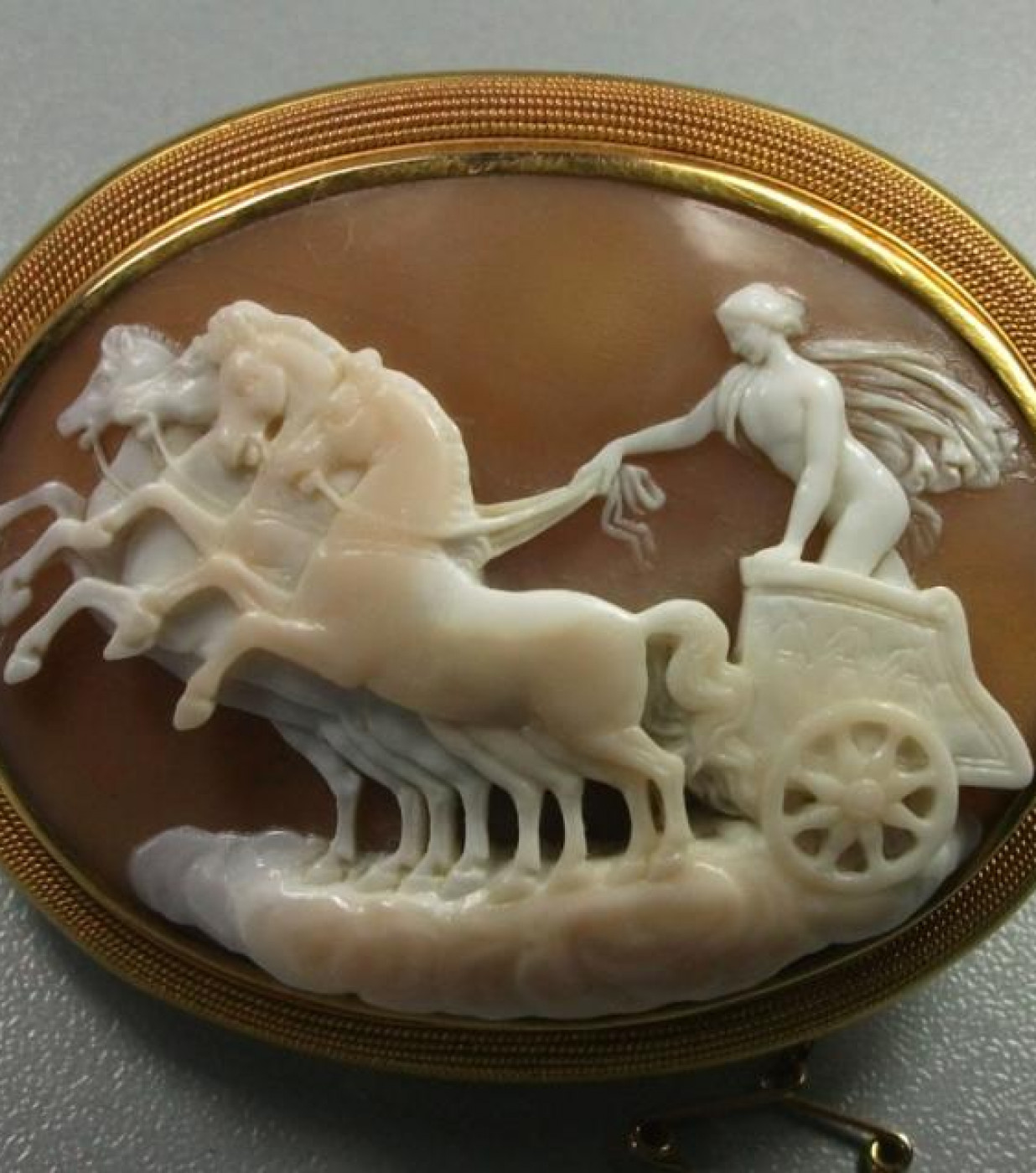 Rare Cameo of  Apollo on Chariot