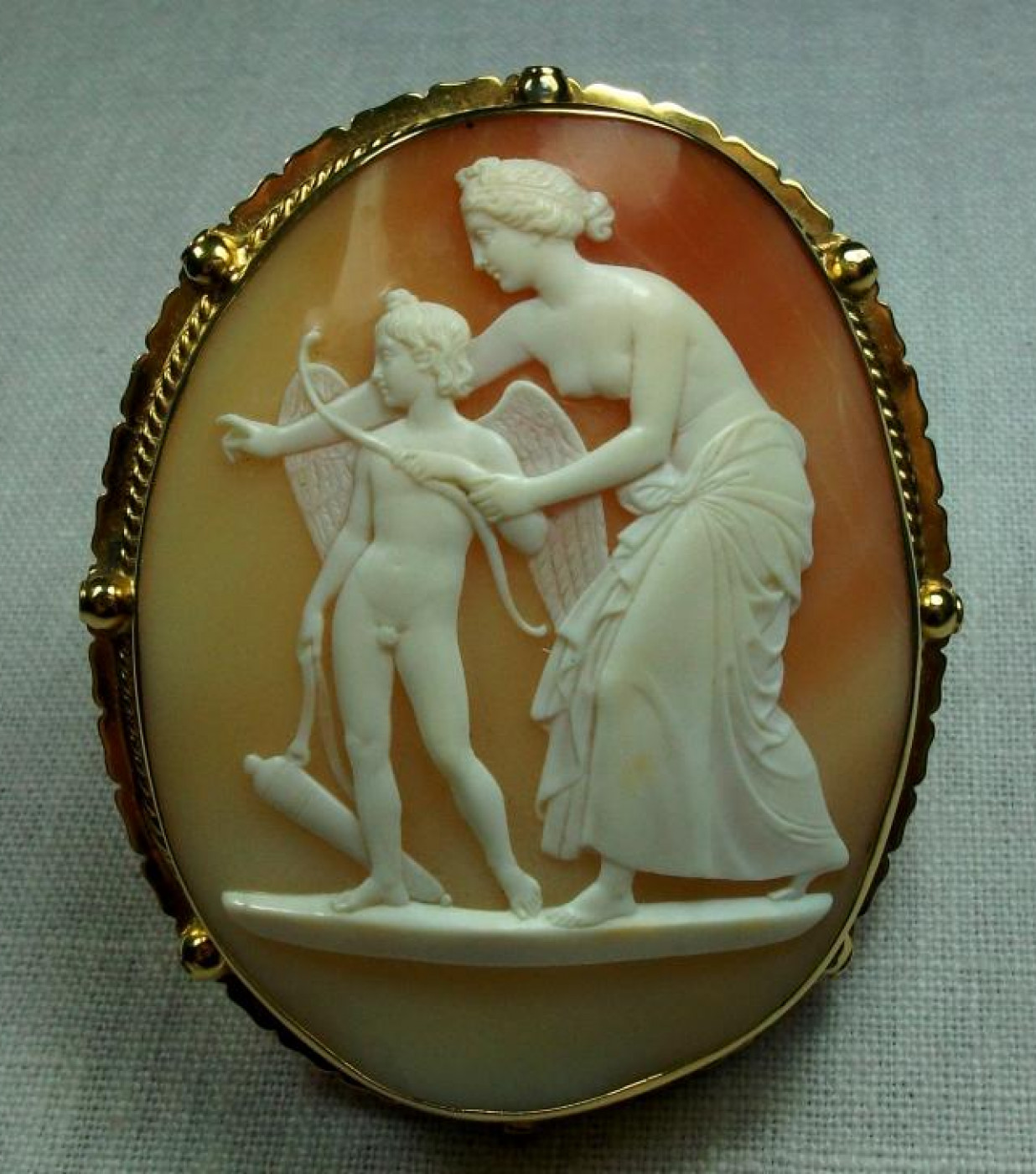 Largest Cameo of Venus Teaching Archery to Cupid