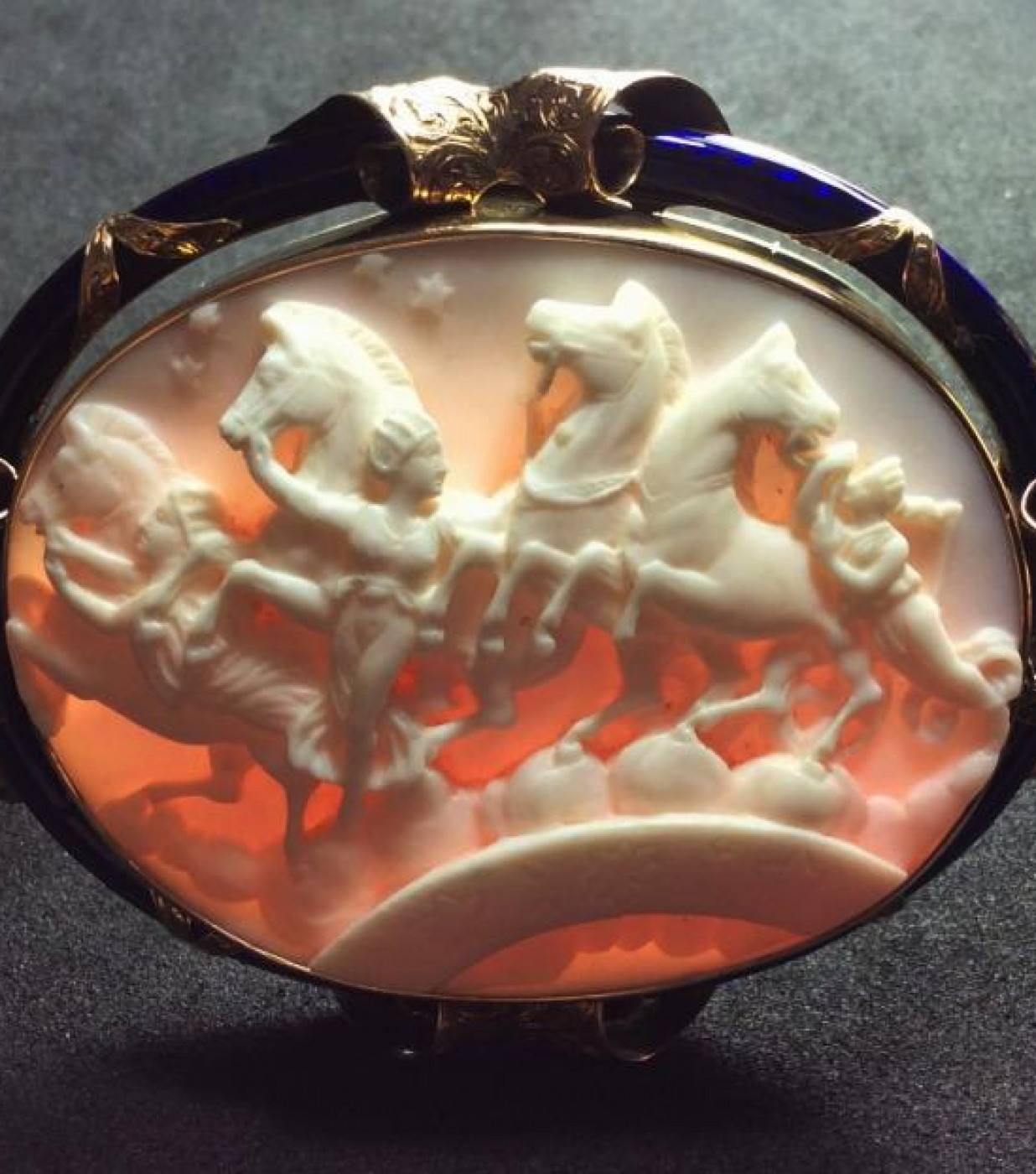 Rare Cameo of the Hours Leading the Horses of the Sun