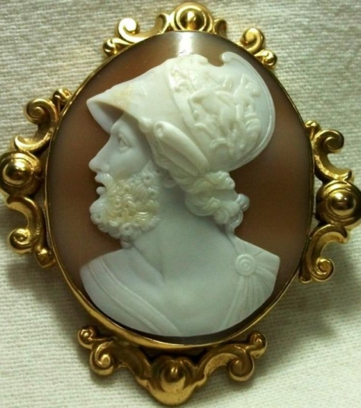 Rare Cameo of Ajax  the  Greek  Hero  of  Troy