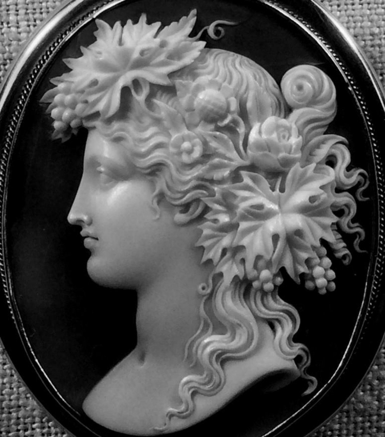 Magnificent Rare Cameo of a Bacchante
