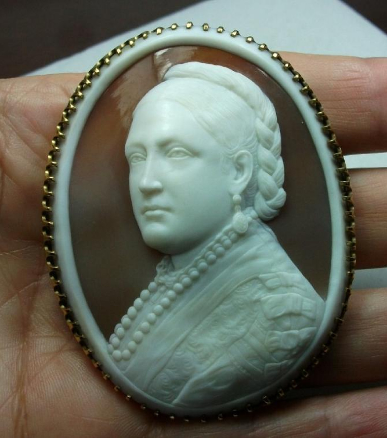 Empress Victoria Cameo Brooch by Pio Siotto
