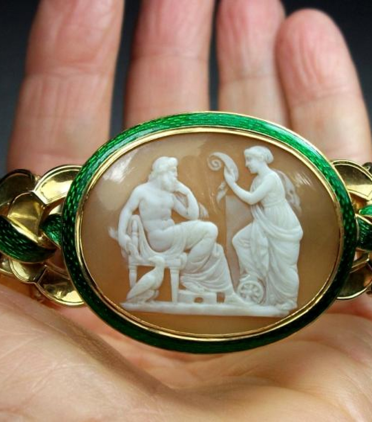 Rarest Cameo Bracelet of Zeus and Nemesis