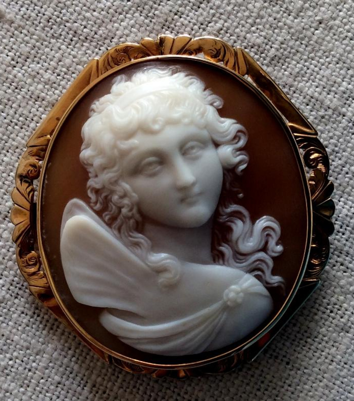 Rare Cameo of Psyche the Goddess of the Soul
