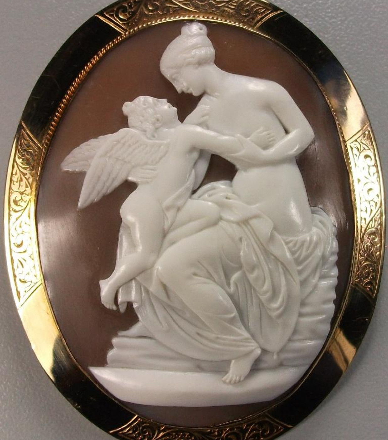 Cameo of Venus and Cupid after John Gibson