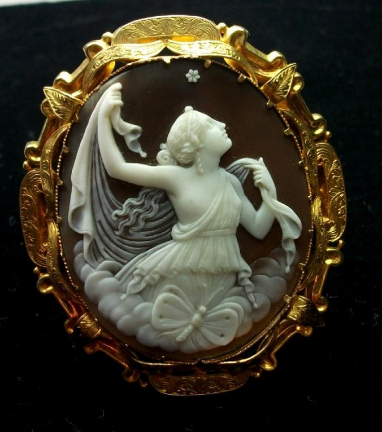 Museum Quality Cameo Brooch of Psyche